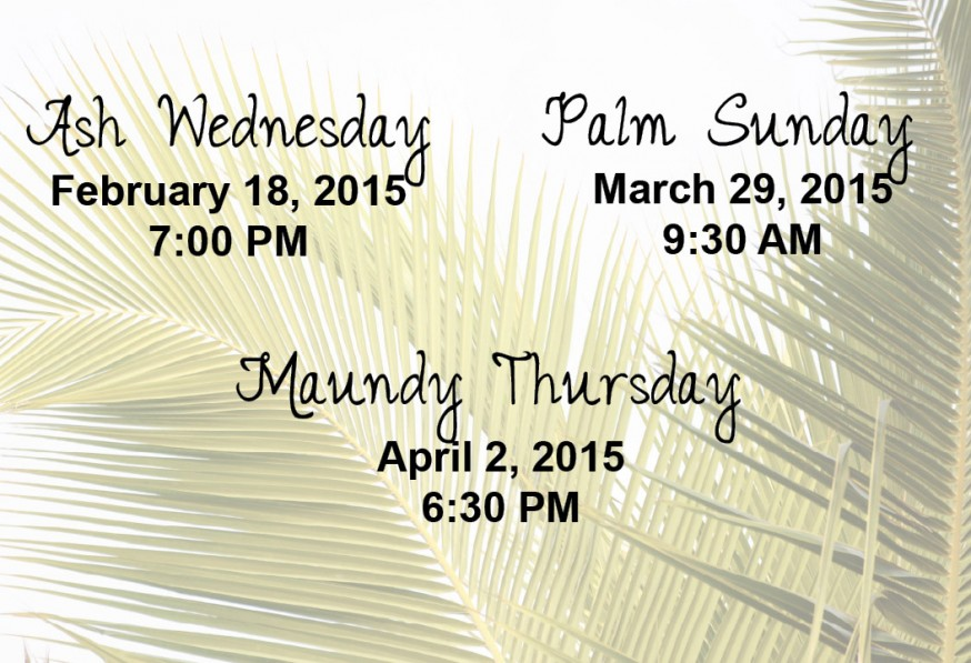 All are welcome at our Lenten services.